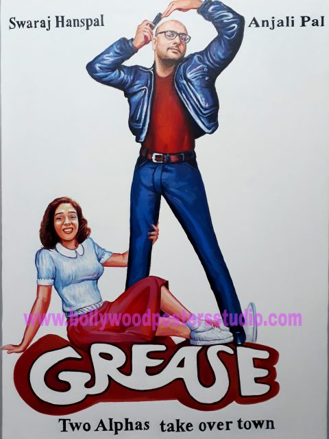 Recreate hand painted customize hollywood posters in bollywood style