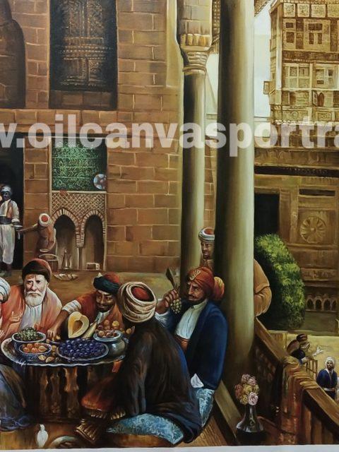Arabian oil painting on canvas