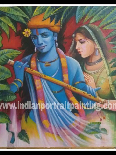Oil paintings for sale - Radha Kishan