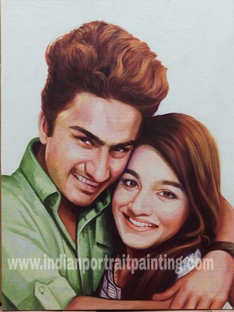 Portrait painting for couples