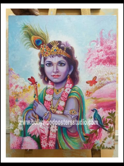 Shri krishna oil paintings original